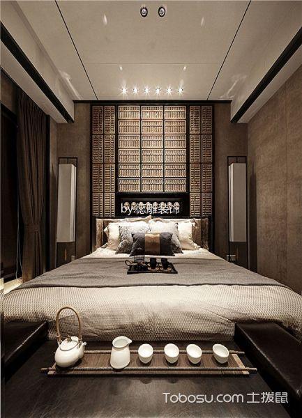 2020中式卧室装修设计图片 2020中式窗帘装修效果图片