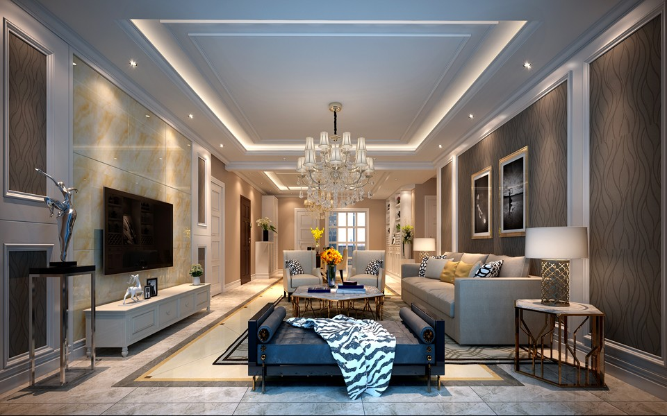 3室1卫2厅130平米现代风格