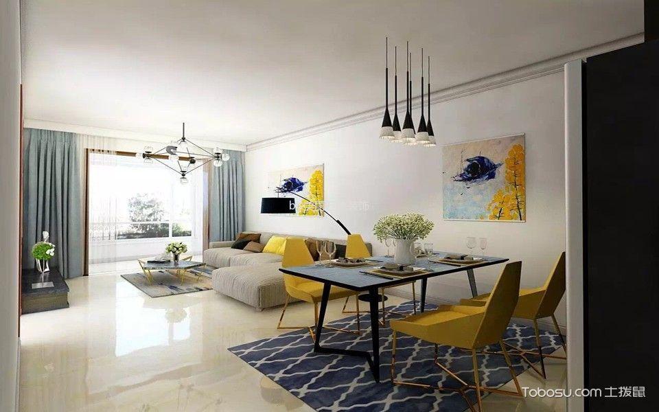 坤泽十里城三居室现代简约风格效果图