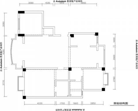 紫金公寓欧式风格三居室效果图