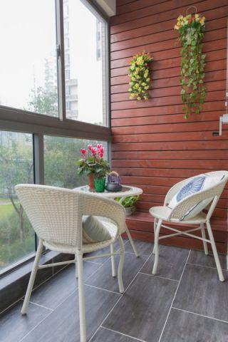 阳台背景墙美式风格效果图