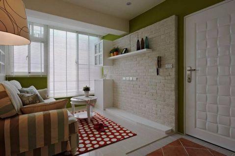 客厅背景墙田园风格装饰图片