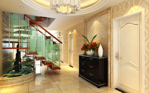 玄关楼梯简欧风格装潢效果图