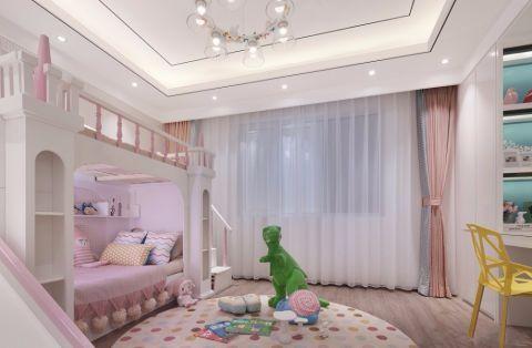 儿童房窗帘现代简约风格装潢图片