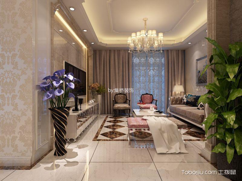 大溪地三居室精美设计效果图