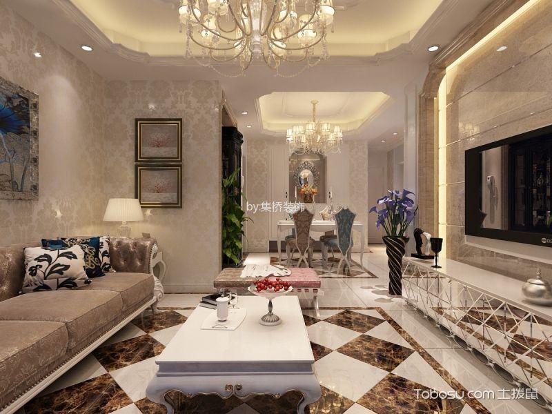 大溪地三居室精美设计欧式装修效果图