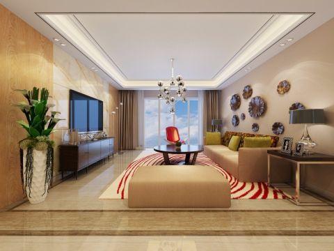 中海原山现代风格四居室装修效果图