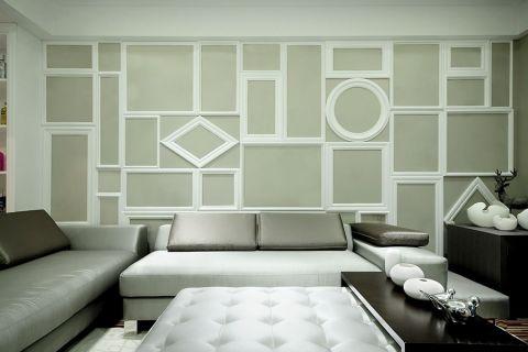 富景花园现代简约风格四居室效果图