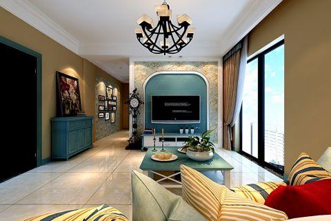 琥珀瑞安家园地中海风格三居室装修效果图