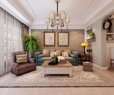 客厅照片墙现代欧式风格装修图片