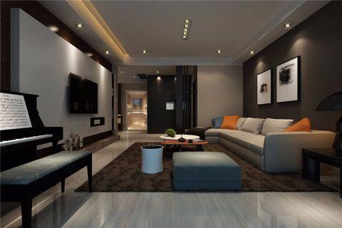 望湖城港式风格三居室装修效果图