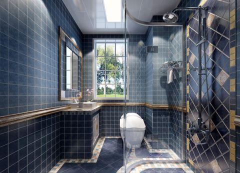 卫生间背景墙北欧风格效果图