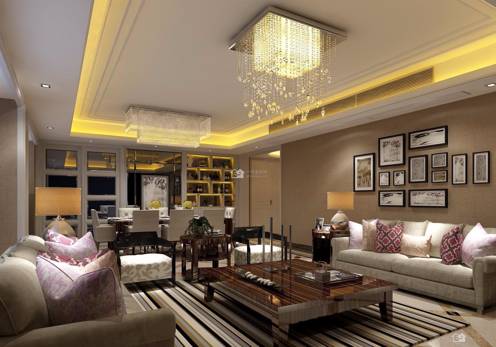3室1卫2厅190平米现代简约风格