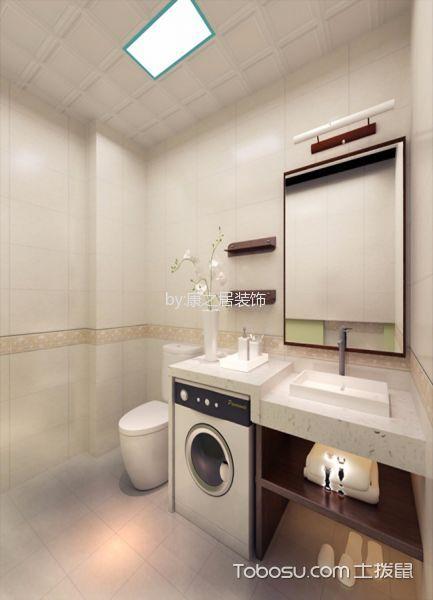 卫生间白色吧台现代简约风格装修图片