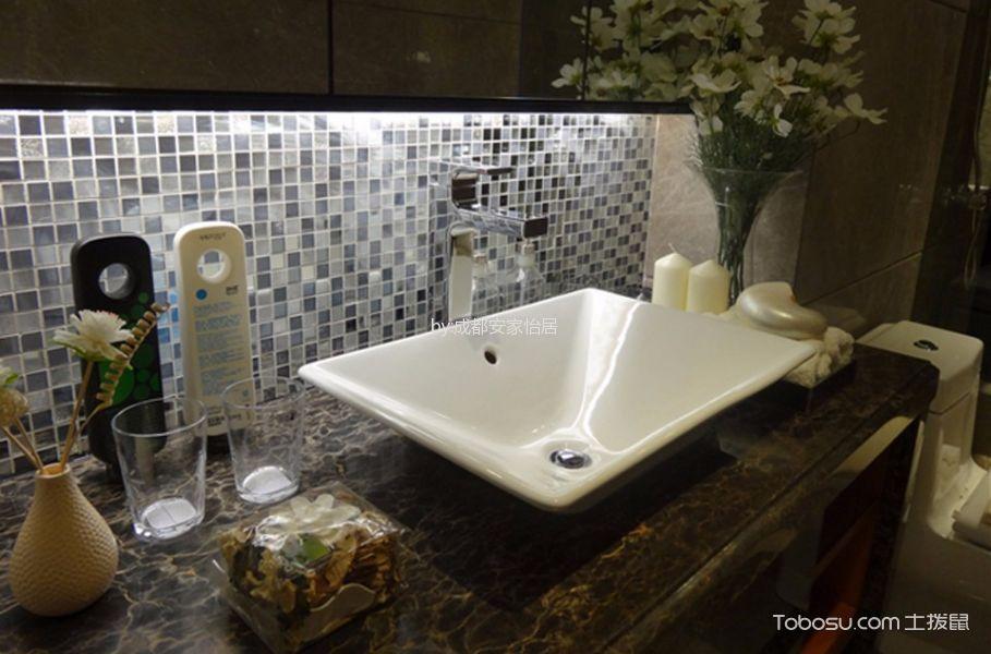 卫生间白色吧台现代简约风格装潢设计图片