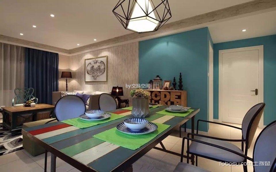 润丰水尚三居室现代美式效果图