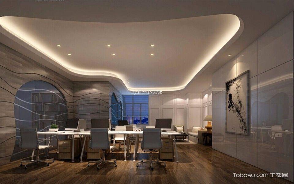 现代时尚风格办公室吊顶设计效果图