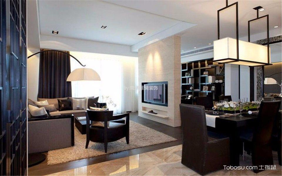中海碧林湾现代简约三居室装修效果图
