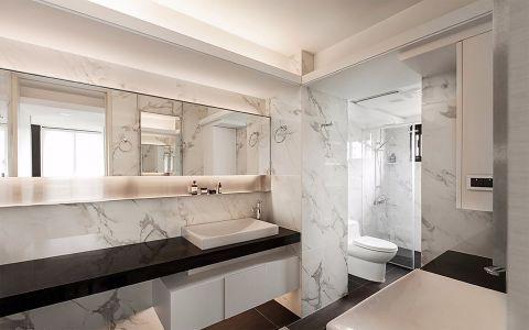 卫生间现代简约风格装潢效果图