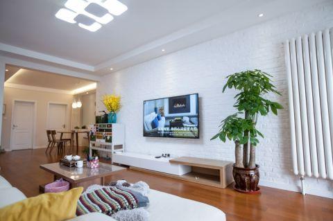 客厅吊顶混搭风格装饰效果图