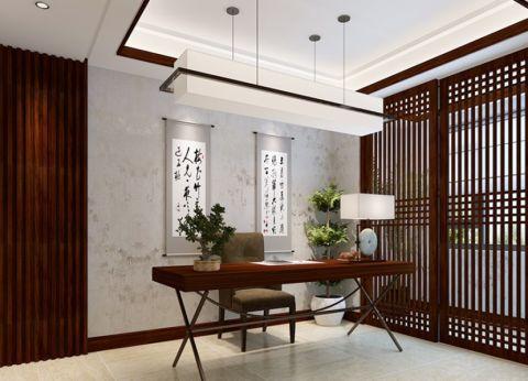 书房吊顶新中式风格装潢效果图