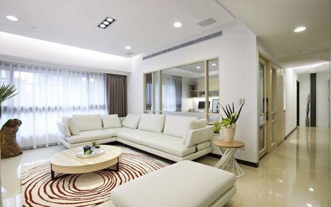 柏翠湾三居室现代简约风格装修效果图