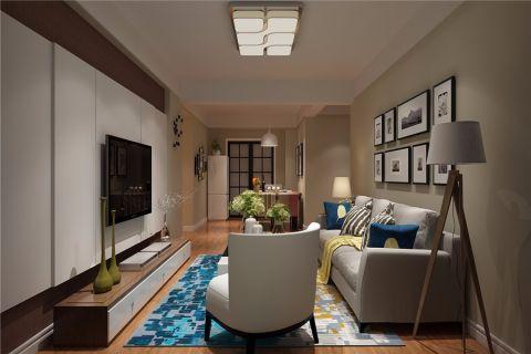 金色年华现代风格三居室装修下效果图