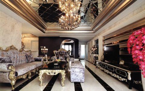 绿都万和城古典风格两室一厅装修案例