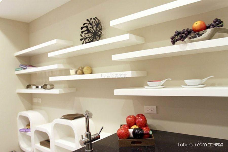 厨房白色背景墙现代风格装饰设计图片