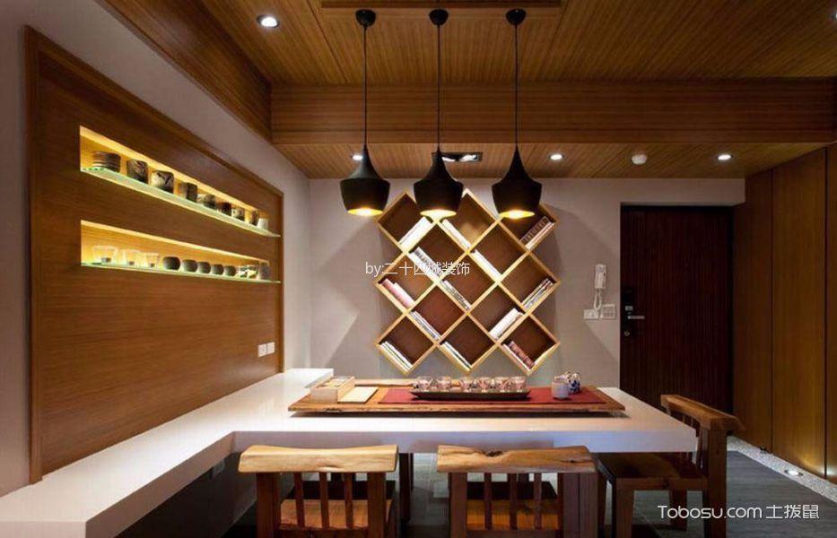餐厅白色餐桌日式风格装饰效果图