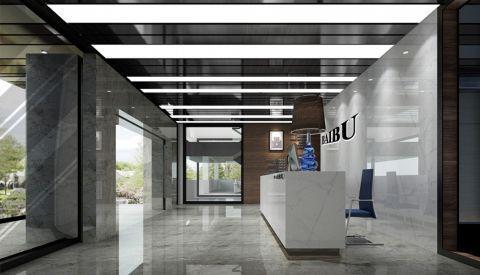 百步科技现代风格办公室工装装修效果图