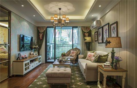 田园风格134平米三室两厅室内装修效果图