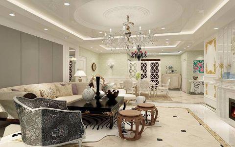 美的翰城法式风格二居室效果图