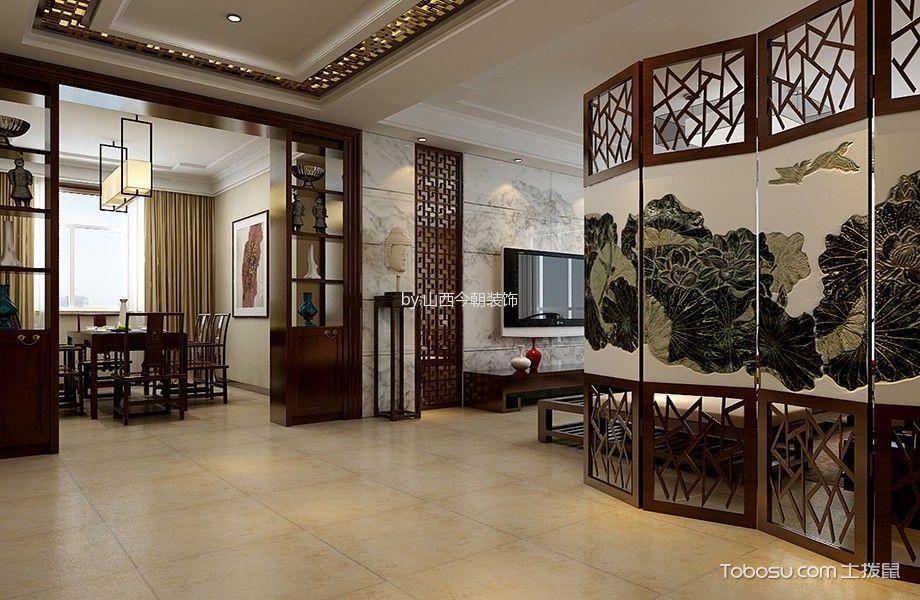 客厅 隔断_山西大医院176平米新中式风格装修案例图