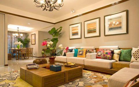 150平风情东南亚风格三居室装修效果图