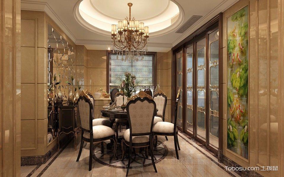 绍兴金色蓝庭143平米新古典风格效果图