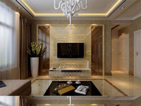温暖客厅窗帘装饰设计