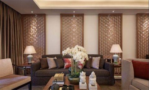 客厅米色背景墙装修美图