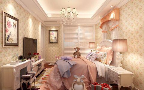 卧室背景墙新古典风格装潢图片