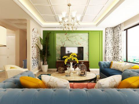 金领花园150平四居室小美式风格装修效果图