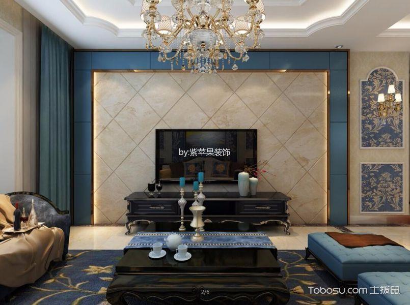 紫霞苑136平米欧式风格装修效果图