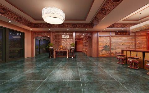 鼎明轩700平米中式风格茶楼工装装修效果图