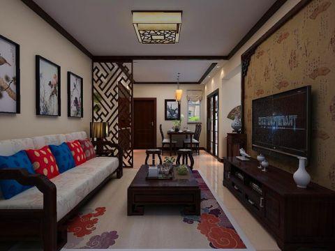中海御城100平三居室中式风格装修效果图
