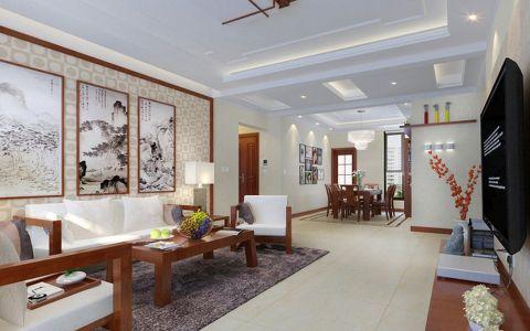 香榭里130平新中式家装设计效果图