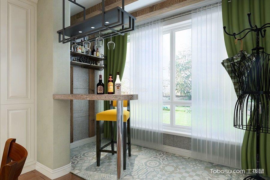 阳台黑色吧台现代风格装修效果图