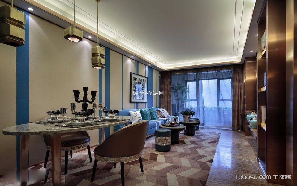 南方玫瑰城三居室新古典风格装修案例