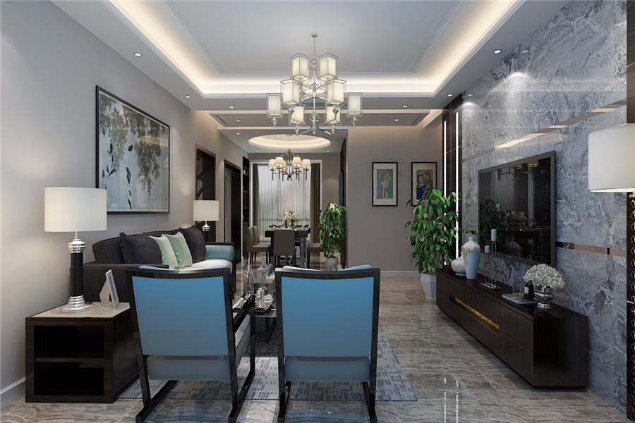 3室1卫2厅108平米现代风格