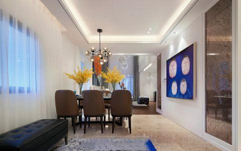 新白马现代清新简约三居室效果图