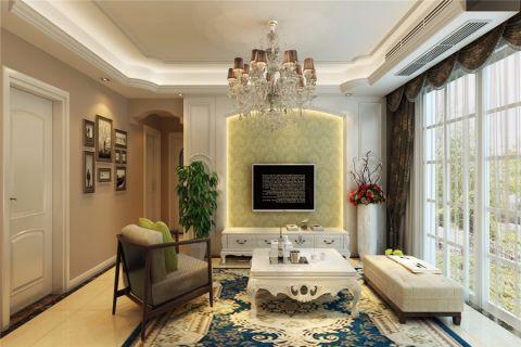 和谐家园现代风格三居室装修效果图