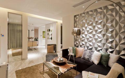 客厅黄色茶几现代风格装修设计图片